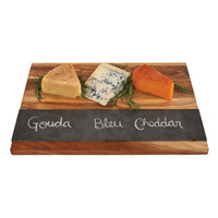 Rustic Farmhouse: Wood with Slate Cheese Board