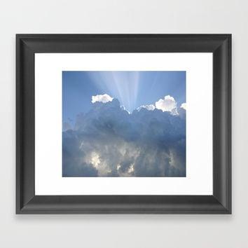 clouds Framed Art Print by abeerhassan