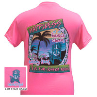Girlie Girl Originals Happiness Sunshine Beach Summer Bright T Shirt