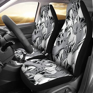 Horse Pattern Car Seat Cover