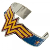 DC Comics Wonder Woman Symbol Logo Cuff Metal Bracelet Licensed