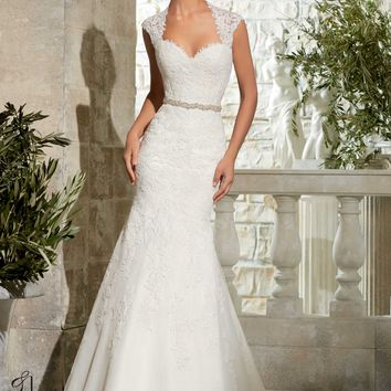 Blu by Mori Lee 5303 Keyhole Back Wedding Dress