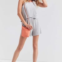 Silence + Noise Twofer Surplice Romper | Urban Outfitters