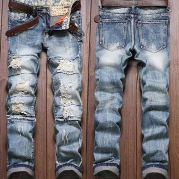Men's Fashion Ripped Jeans Up To Size 40