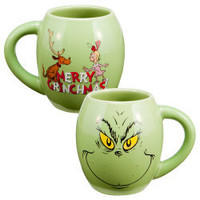 "Vandor - Dr. Seuss™ ""The Grinch"" 18 oz. Ceramic Oval Mug"