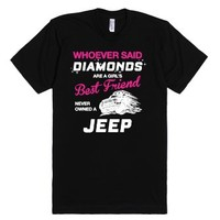 Own A Jeep-Unisex Black T-Shirt