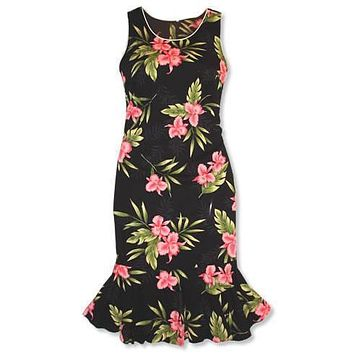 midnight hawaiian hana aloha dress