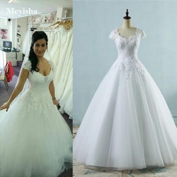 Best Short Lace Wedding Gown Products on Wanelo