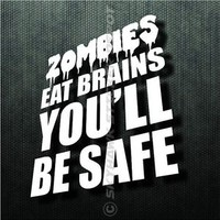 Zombies Eat Brains Funny Bumper Sticker Vinyl Decal Walking Dead Car Truck SUV