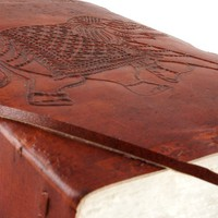 Thick Leather Journal with Deckle Paper and Elephant Embossed