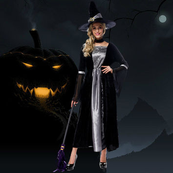 Halloween Witch Shirt Black Lace Costume [9220887620]