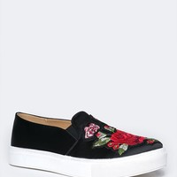 Joon Embroidered Sneaker Flat