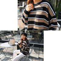 Buy Seoul Fashion Round-Neck Color-Block Sweater | YesStyle