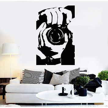 Vinyl Wall Decal Photographer Photo Studio Camera Stickers Mural Unique Gift (ig4651)