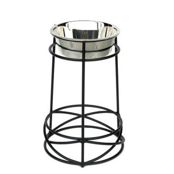 Tall Mesh Elevated Dog Bowl - Large
