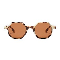 The Tiny Octagon Sunglasses Leopard