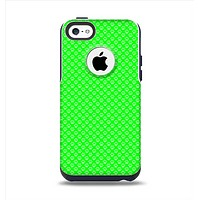 The Subtle Green Paw Prints Apple iPhone 5c Otterbox Commuter Case Skin Set