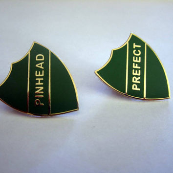 "Wizarding ""Prefect"" & ""Pinhead"" Badges / Enamel Pins"
