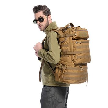 50L Outdoor Backpack Molle Military Tactical Backpack Mochila Militar Rucksack Waterproof Camping Hiking Backpack For Travel