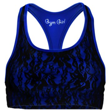 Lace Sports Bra in Royalty