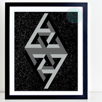 Abstract Printable Art, 8x10, Instant Download, Scandinavian Art, Geometric Wall Art, Office Print Decor, Tabletop Art, Geometric Printables