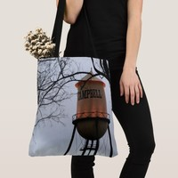 Campbell CA Water Tower Brushed Polyester Tote