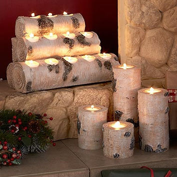 Birch Forest Tea Light Candleholders