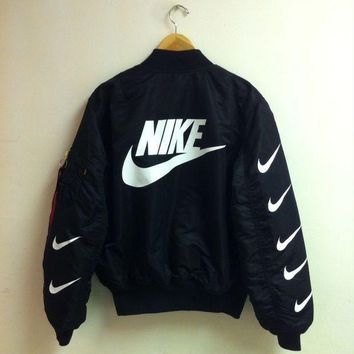 ONETOW Nike x Alpha Industries MA-1 Trending Bomber Jacket G
