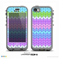 The Bright-Colored Knit Pattern Skin for the iPhone 5c nüüd LifeProof Case