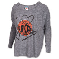 Women's Junk Food Clothing New York Knicks NBA Time-Out Triblend T-Shirt