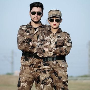 Mens Sniper Hunting Military Outfit Camouflage Clothing Tactical Jackets Pants Camo Uniforms Army Costume Clothes Combat CS Suit
