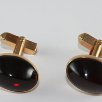 cuff links Swank ruby red gold