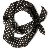 ModCloth Vintage Inspired Bow to Stern Scarf in Black Dots