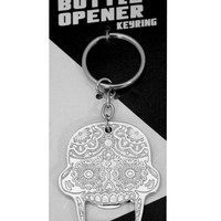 """Candy Skull"" Bottle Opener Keychain"