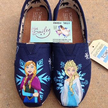 f70a547ab3aa5c Shop Disney Hand Painted Toms on Wanelo