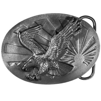 Sports Accessories - Eagle & Sun Antiqued Belt Buckle