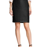 Banana Republic Womens Factory Coated Bouclé Pencil Skirt