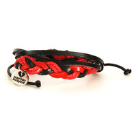 Mayday Parade Men's  Charm Wristband Red