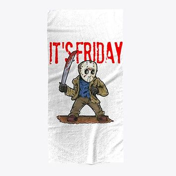 It's Friday TGIF Funny Horror Mask Towel
