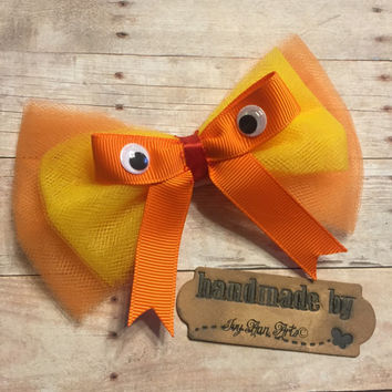 The Lorax Inspired Hair Bow, Dr Seuss, Kids Accessories, Reading stories, Story books, Girl's Hair Accessories