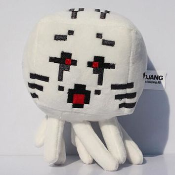 2015 New Minecraft Plush Toys High Quality red eyes Ghost stuffed Plush dolls Game Cartoon Toys Minecraft gift for kids