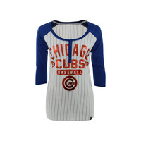 Chicago Cubs MLB Women's Opening Night Stripe Henley T-Shirt