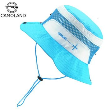 Sun Hat Kids Bucket Hat Quick Dry Summer Fishing Hiking Cap Boy Girl Panama Children Hat Breathable Beach hat Outdoor Fisherman