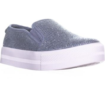 G by GUESS Cherita Slip-On Platform Fashion Sneakers, Dark Gray, 7.5 US
