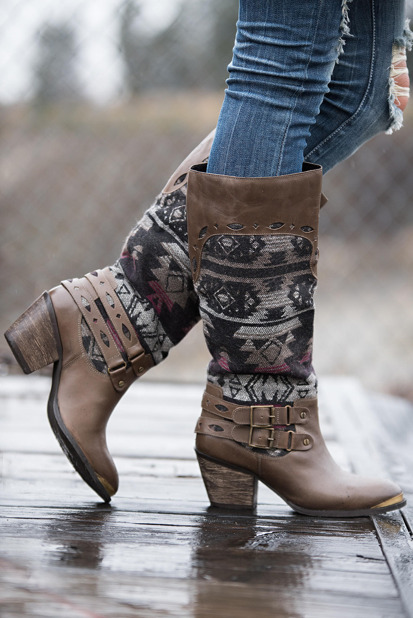 c6c3b48b3f2f6 Desert Walkabout Tribal Buckle Boots from NanaMacs Boutique
