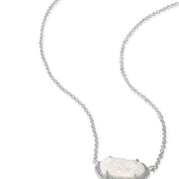 Kendra Scott Elisa Iridescent Drusy Silver Necklace