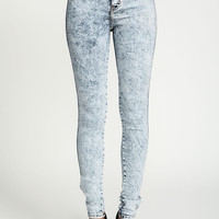 High Waisted Acid Wash Jeggings