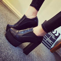 [H][C]2016 women's Shoes  Boots high-heeled Shoes Platform Shoes Thick Heels Shoes High Heel Pumps For Girls  DFGD-99-1