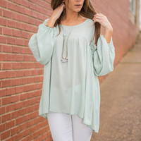 Ruffle Of Love Top, Mint