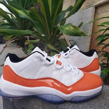 "AIR JORDAN11 LOW ""Whtie&Orange"" AJ11"